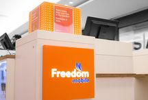 Freedom Mobile / In combination with the launch of its new LTE network, Freedom mobile wanted a new and improved sign to go along with their new re brand. We utilized our expertise with pre-finished ACM to create the sign, which allowed us to skip many unnecessary steps and create a great finished product as well as meet the firm deadline.