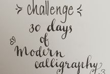 30 days of modern calligraphy