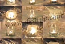 Glass Frosted Candle Votive