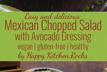 Vegan Salad Ideas / Vegan salads including oil free, and vegan salad dressings