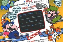 Mario Bros arcade game...an old school Nintendo classic / Play head-to-head with this original Mario Bros game. It's Nintendo's first cooperative 2-player game in which players knock over crabs, turtles, and flies that emerge from the sewer pipes. Hit the POW button to knock them all down and gain advantage! This is a Nintendo classic that everyone seems to know and love. The unit has been repainted and outfitted with new control panel graphics featuring your favorite Italian plumbers...Mario and Luigi!