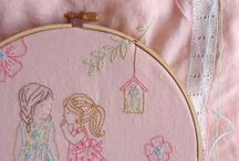 Embroidery - Embroidered Drawings !