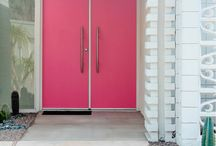 Curb appeal - colorful doors