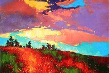 Художник Анастасия Крайнева /  Художница в своей живописи умело сочетает импрессионизм, экспрессионизм, реализм и авторские элементы. Работает мастихином в технике, которую называют «импасто». Кстати, в такой технике часто писал гений живописи Винсент Ван Гог. И несмотря на то, что их работы абсолютно разные, Анастасия ничем не уступает известному художнику-постимпрессионисту.