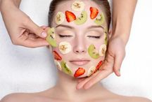 Facial mask and healthy juices