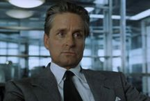 """MICHAEL DOUGLAS / One of my favorite artists. Nicolas van Orten in the movie """"The Game"""" and Gordon Gekko in """"Wallstreet""""are some of his best roles ever."""