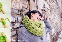 Knitting / No needle scarf