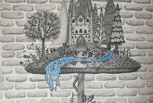 Enchanted Forrest - Mushroom and Castle
