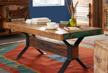 Coastal Reclaimed Furniture ~ Eco friendly, industrial and uniquely unconventional / Made from old houses and boats in India