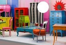 Bright coloured furniture