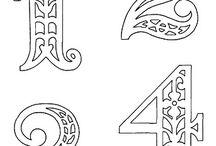filigrán számok, betűk