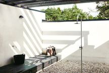 Outdoor bath and shower facilities