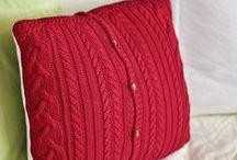 Надо попробовать!наволочка для диванной подушки из старого свитера!