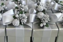 Ice queen (silver/blue) wedding favours
