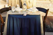 Navy + Burlap Wedding