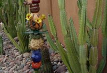 garden totems and sculptures