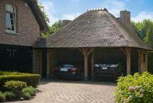 Carports garages - eiken en stapelbouw / Hoogwaardige eiken garages op maat . Totaalproject of in DiY kits met alle benodigdheden
