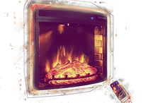 Electric fireplace insert / Electric fireplace inserts are made to fit into existing firesides, including nearly every dimension brick or steel covered hearth. They frequently provide LED inner glow logs with pulsating embers to give you a remarkably realistic fake flame effect minus the maintenance.   You can find more on: http://electricfireplaceheater.org/best-electric-fireplace-heaters/82-best-electric-fireplace-inserts-by-user-reviews.html