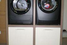 wasmachine en droger kast