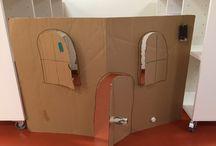 Hus av kartong / Kartong, toarullar