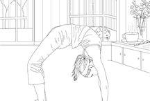 Coloriages pour adulte ( Yoga & contorsion)