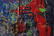 José de Guimarães / In his work, the color plays a key role and its main theme is the human body._Na sua obra, a cor desempenha um papel fundamental e a sua temática principal é o corpo humano.