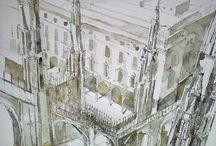 watercolors drawings / rysunki malunki