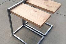 muebles de caño y madera
