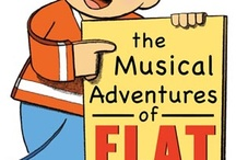 Musical Adventures of Flat Stanley / Inspiration board for costume designs for FS by MYTP