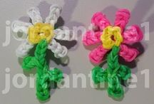 rainbow loom fleurs / Rainbow loom