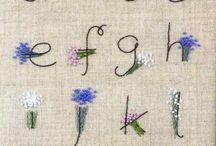アルファベット刺繍