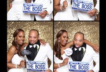 Chanelle and Lee #ChurchOnFriday / Wedding Photo Booth, Gold Sequin Backdrop, 4 shot Vertical, wedding, photo booth props, black and gold