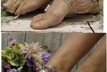 sandalias bordadas