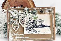 Christmas cards and decorations