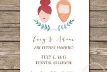 Wedding stationary and invitations