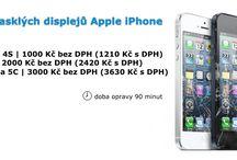 Oprava mobilních telefonů Apple iPhone / Oprava mobilních telefonů firmy Apple. Oprava prasklých displejů, krytů baterií, home buttonů a další.