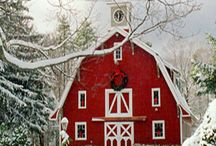 Barns and cabins, fall / Everything that reminds me of home. Beautiful red barns, cabins, old houses and scenes in fall. / by Kim Rivard
