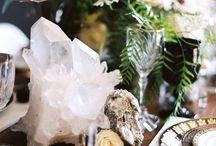 Crystal and Gemstone Event Rentals / Black + Gold Wedding Inspiration is up  @greenweddingshoes today! Photo @dianamariephoto | Event Design @theshiftcreative | Florals @native_poppy | Crystals @lovetatum | Tabletop Rentals @borrowedblu | Rentals @witty_rentals | Cake @sweetnsaucyshop http://greenweddingshoes.com/black-gold-geometric-wedding-inspiration/  | For more Crystal Rental Information please email info@lovetatum.com
