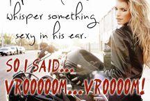 motorbikes...