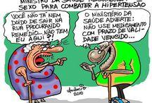 Brasil (Saúde) / Charges, frases, quadrinhos e textos sobre a saúde no Brasil.