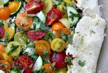 Tomaten-zucchini tart