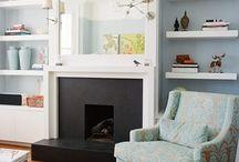 Built-Ins Around a Fireplace