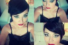 Maquillaje ahumado azul