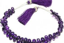 African Amethyst Gemstone Beads / Buy natural African amethyst beads, Faceted, Oval, Smooth Round, Pear, Roundel at wholesale prices.