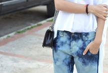 The dye jeans