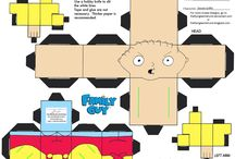 Family Guy papercraft cube figures