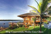 Fachadas de Casas de Campo Maravilhosas! / Veja + Inspirações e Dicas de decoração no blog!  www.construindominhacasaclean.com