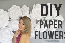 Pappersblommor DIY