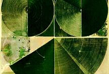 Pan Handle Circle-square [Google Earth] / Scholars during the Medieval Period believed that there was something divine or perfect about the circle. The farmers of today in the Texas Panhandle believe in the practicality and efficiency of the circle via the utilization of center pivot irrigation of their crops. The Earth canvases [Found Art] above are a testament to the farmers' intuitive nature and mathematical skill of working with the dynamics of the circle and within the confines of a square [plot of land] to irrigate their crops.