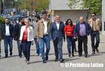 Candidato del PSOE Pedro Sánchez en Barcelona